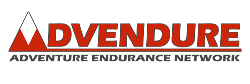 advendure logo HD black stroke red letters mobile