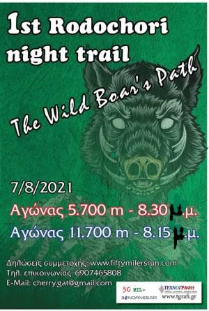 Πρώτο RODOCHORI NIGHT TRAIL στις 7/8/21 - ΦΙΛΑΝΘΡΩΠΙΚΗ ΕΚΔΗΛΩΣΗ!